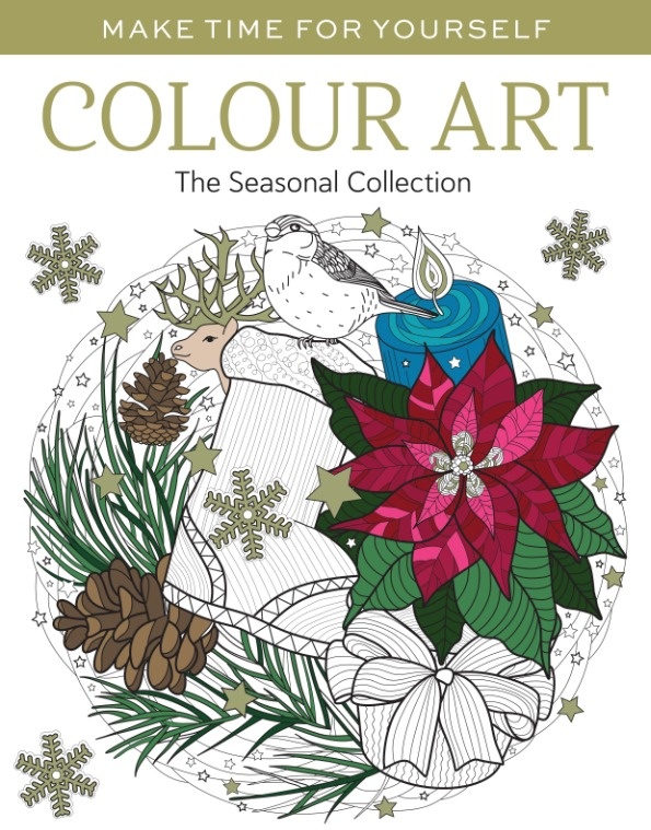 Make time for yourself colour art seasonal