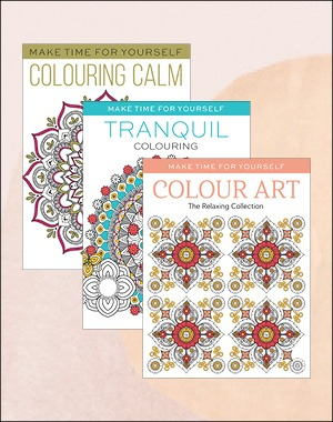 Make Time For Yourself colouring pack