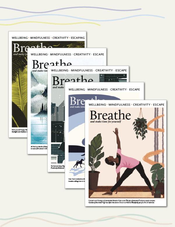 Breathe magazine back issues 32 33 34 35 36