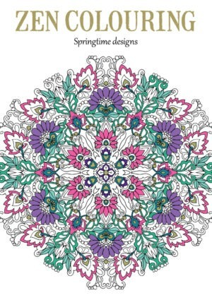 Zen colouring 52 springtime designs